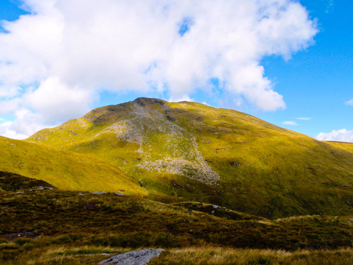 Scotland Beauty In Nature Ben Lomond Cloud - Sky Day Grass Green Color Landscape Mountain Mountain Range Munro Nature No People Outdoors Scenery Scenics Sky Tranquil Scene Tranquility