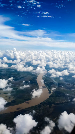 Sky , Clouds, River Ariel Shot Ariel Ariel View Sky Sky And Clouds Sky_collection Sky Collection Skylovers Sky_ Collection Sky Photography Skylines EyeEmNewHere Eye4photography  Eyeemphotography Eye For Photography Cloud - Sky Sky Travel Water Tourism No People Aerial View