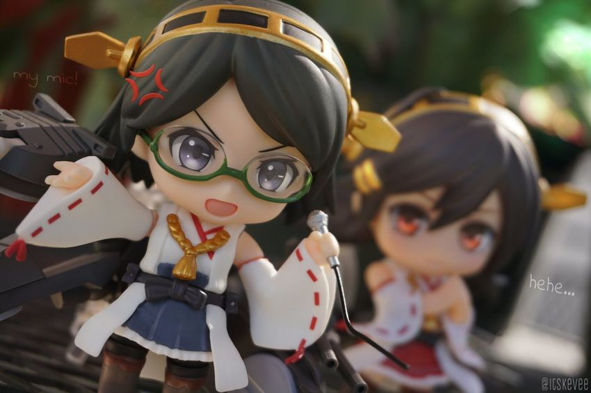 Poor Krissie >.< ねんどろいど Outdoor Photography Creativity Toyphotography Kancolle Kantaicollection Anime Kirishima Haruna Leisure Activity Outdoors Focus On Foreground Green Color Close-up Art