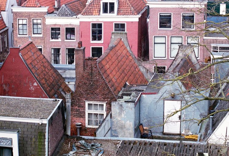 Abandoned Abandoned Buildings Analogue Analogue Photography Architecture Building Exterior Built Structure Film Film Photography Full Frame Leiden No People Old Buildings Old House Old Town Outdoors Pattern Roofs Rooftop Window