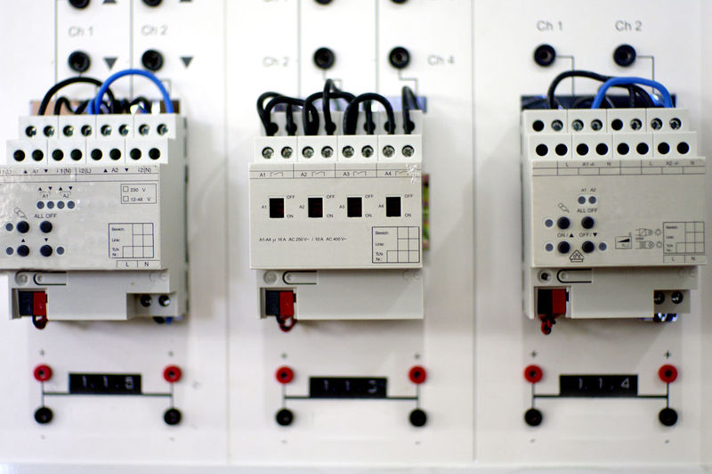 Electrical Electric Panel Circuit Board Electricity  System Power Engineering Control Energy Systems LINE Safety Box Switch Equipment Industrial Wires Automatic FUSE Cables Technology Installation Breaker Voltage Automation Technical Industry Electronics  Connection Cable Plug Engineer Knx Home Automation