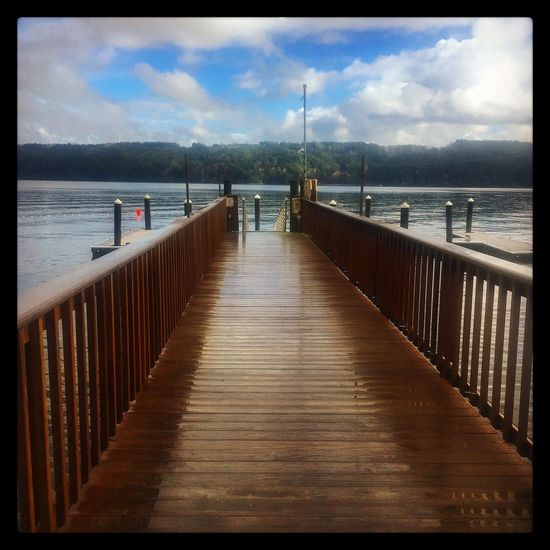 Quiet nature Sea Water Sky Pier Nature Cloud Outdoors No People Beauty In Nature Wood Pier