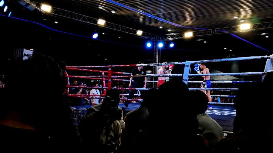 Boxing 🥊 Boxing Sport Fighting Stage - Performance Space Audience Thailand MuyThai Thaiboxing  Crowd Audience Performance First Eyeem Photo