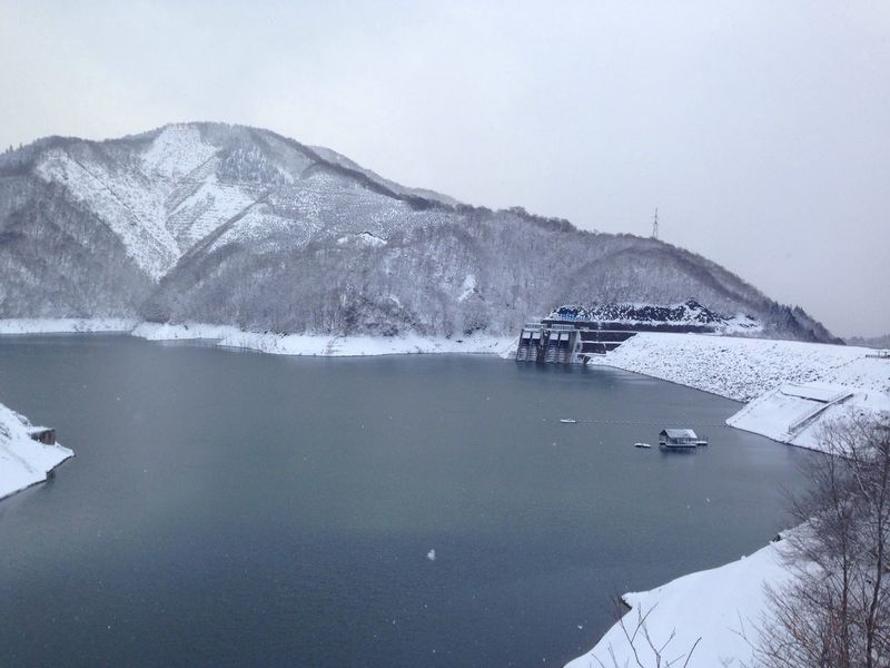 Dam Dam Lake Lake Snow ❄ Snow Views Winter Snow White Winter Scenes IPhoneography Kuzuryu Dam