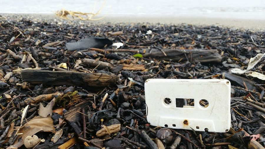 Message In A Bottle Plastic Pollution Of The World's Seas And Oceans Old School Music Oldschool Lost Seascape Beach Waste Thrown Away Mixtape Business Finance And Industry Beach Text Close-up Garbage Water Pollution