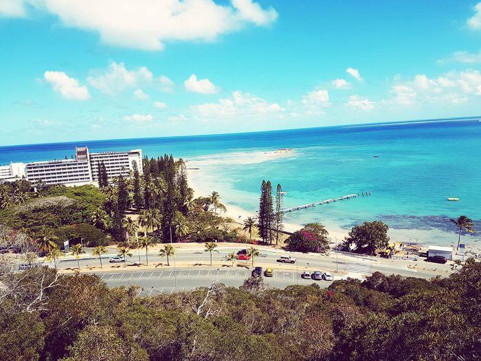 Vu sur la plage du ponton. Anse-Vata Sea Beach Horizon Over Water Sand Water Sky Day First Eyeem Photo