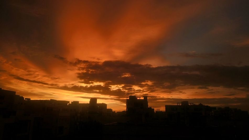 Love to capture Sunset 🌇 Sunset Orange Color Dramatic Sky Vacations Cloud - Sky No People Night Outdoors Nature Sky City Architecture Beauty In Nature Sony Xperia M5 Xperian Photography Sony Xperia Nwin Photography Golden Hour Sunset_collection Sunset Photography Sunset Lovers Sunset Porn Sunset Moments