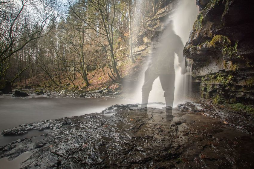 Ghosting Waterfall Trees River Under The Falls Long Exposure Photography Long Exposure Nikon Nikon D7200 Nikonphotography Nikonphotographer Sigma10-20 Water Adventure Nature Forest Beauty In Nature Outdoors People One Person Day Nikon_photography NiSi Filters Amazing Long Exposure Shot