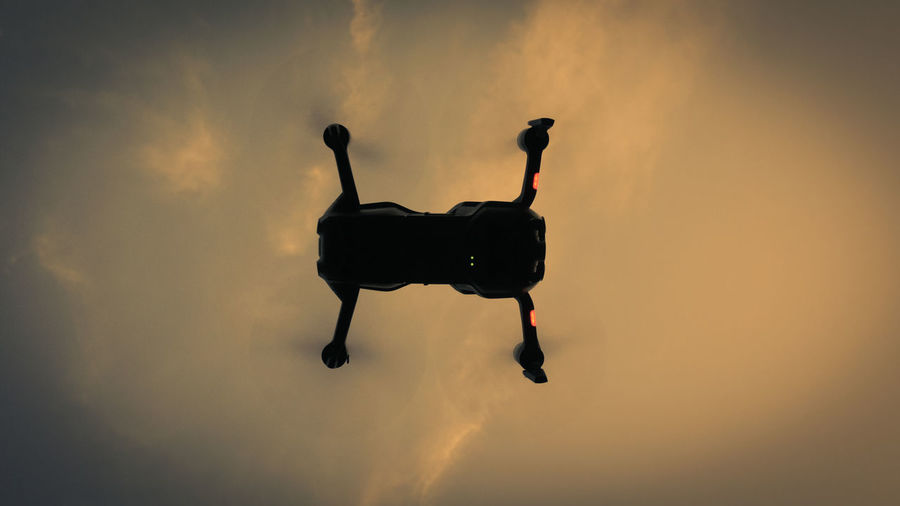 Drone  Adventure Air Vehicle Cloud - Sky Flying Mid-air Orange Color Outdoors Photo Photography Silhouette Sky