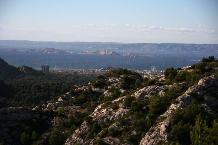 Beauty In Nature Cliff Day Exploring France Geology High Angle View Marseille Mediterranean  Mountain Outdoors Physical Geography Rock Rock - Object Rock Formation Scenics Seascape Seaside Tranquil Scene