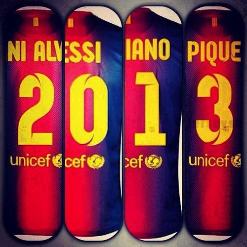 2013 , Elbarca , Danialves Messi adriano pique