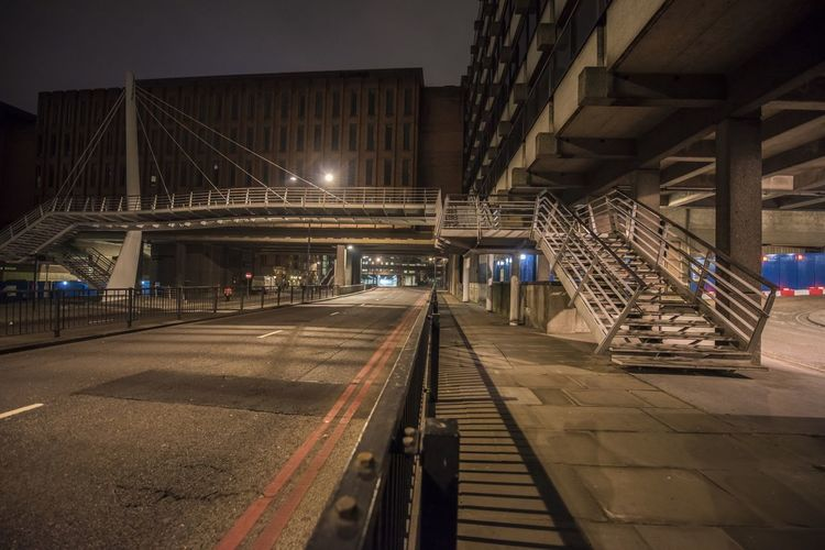 Night Photography London United Kingdom Mansion House Blackfriars Lock Down New Years Eve Stairways The City Walk This Way