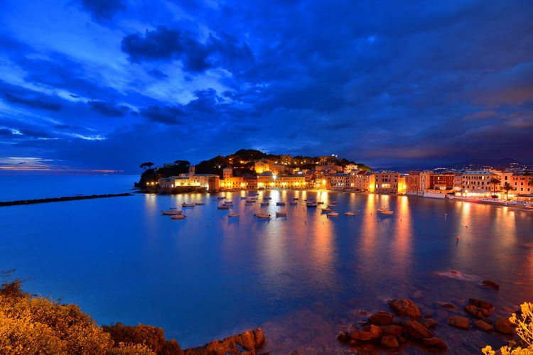 Sestri Levante by night Baia Del Silenzio Bellitalia Blue By Night Eye Em Italy Italian Riviera Italy Italy❤️ Landscape Landscape_Collection Liguria Ligurian Coast. Mediterranean  Mediterranean Sea Nightphotography Sea Sestri Levante Skyview Sunset Sunset_collection Tigullio The Great Outdoors - 2016 EyeEm AwardsTravel Photography First Eyeem Photo Landscapes With WhiteWall