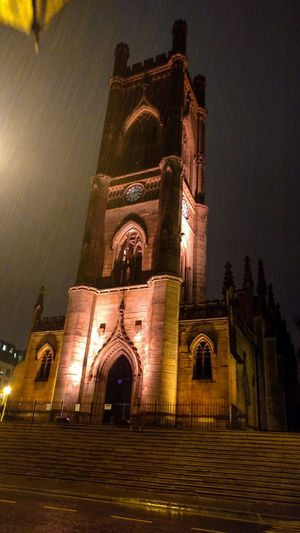 Religion Night Architecture Spirituality Place Of Worship Built Structure Building Exterior History Travel Destinations Façade Liverpool England Liverpoolarchitecture Liverpool Cityscape