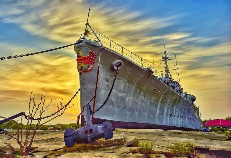 Nautical Vessel Water Sea Sunset Sailing Ship Sky Cloud - Sky