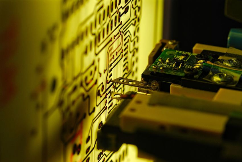 High technology machines checking High technology circuit boards. Beauty Of Technology Circuit Circuit Board Circuit Boards Circuit Trace Circuits Close Up Technology Close-up CNC Machine Electrical Test Electronic Electronics  Electronics Industry Extreme Close-up Macro P.C.B. PCB Printed Circuit Board Printed Circuit Boards Technology Technology Photography