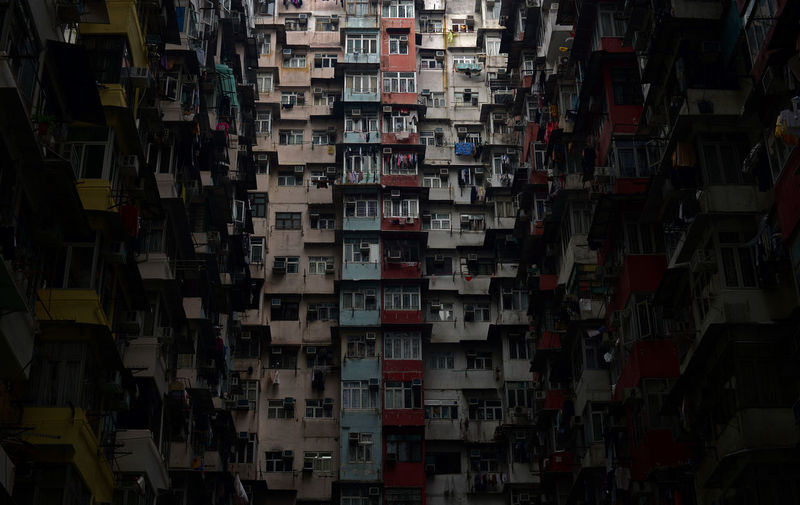 Abundance Apartment Architecture Building Building Exterior Built Structure Choice City Collection Full Frame Hanging Large Group Of Objects Night No People Outdoors Residential District Variation