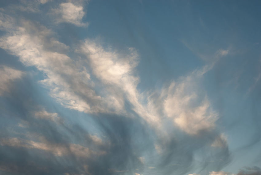 Backgrounds Beauty In Nature Blue Cloud - Sky Cloudscape Day Dramatic Sky Full Frame Idyllic Low Angle View Meteorology Nature No People Outdoors Scenics - Nature Sky Sunlight Tranquil Scene Tranquility White Color Wispy