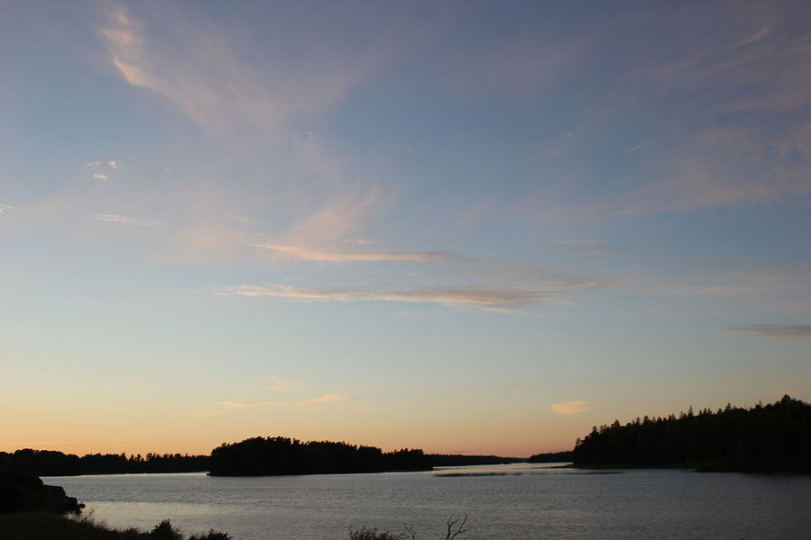Beauty In Nature Calm Lake Nature No People Outdoors Sea Sky Sunset Tranquil Scene Tranquility Water Waterfront Växjö  Sweden