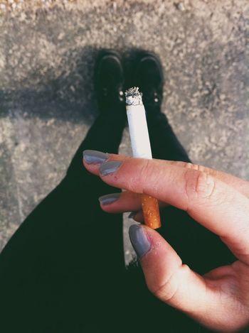 Smoking Cigarettes Autumn