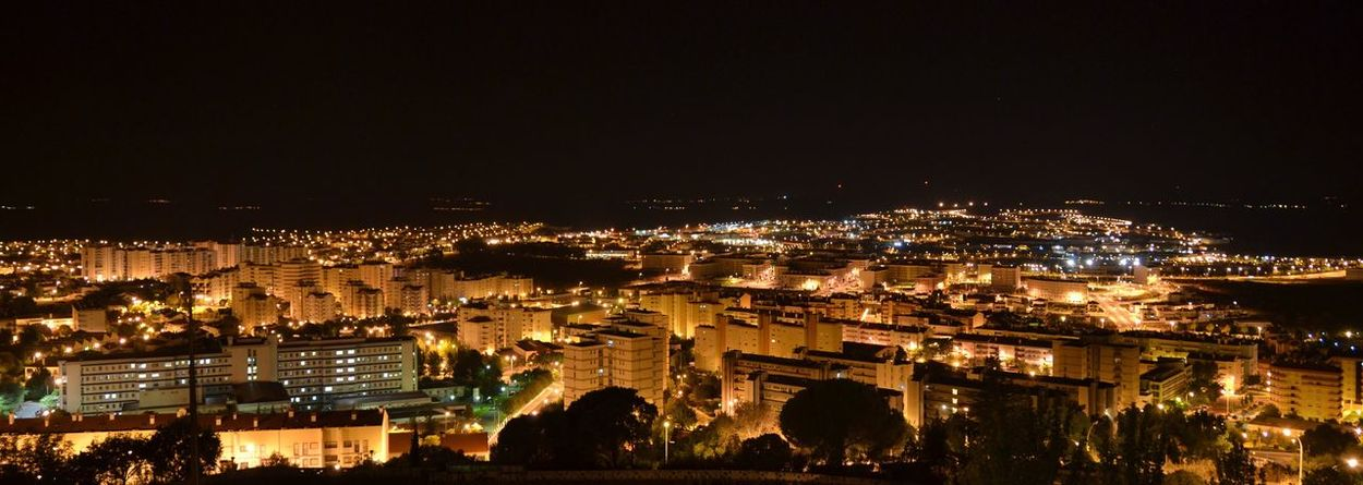 Building Exterior Architecture City Cityscape Built Structure Residential Building Illuminated Night No People Sky Outdoors Settlement Castelo Branco
