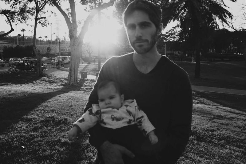 Father and daughter. Father And Daughter Black & White Unfocused Strong