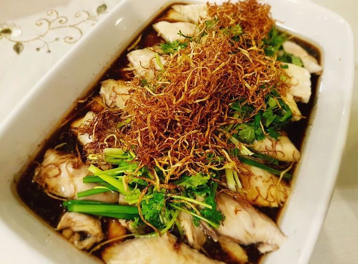 Steam Fish Fillet Cantonese Food South East Asian Food
