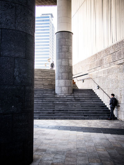Steps in city