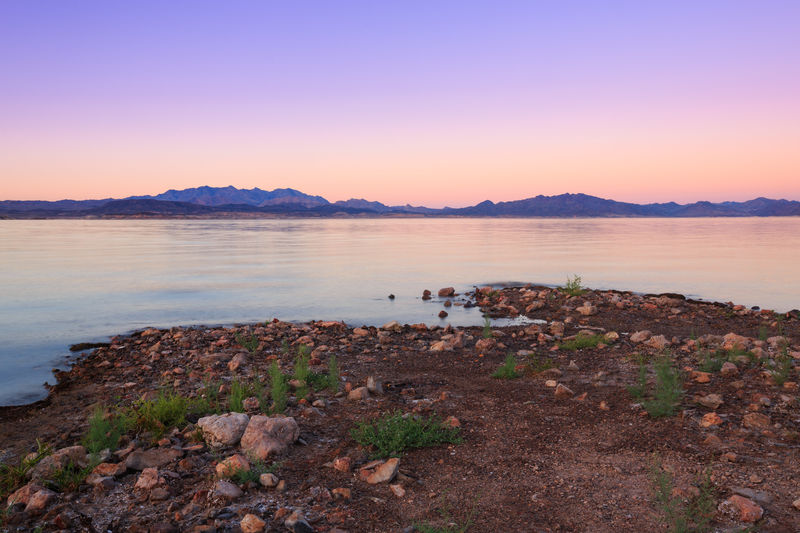 Sunset at Lake Mead, Nevada Sunset Beauty In Nature Scenics Landscape Beauty In Nature Clear Sky Nevada Water Nature Sky Beach No People Colors Lake Lake Mead National Recreation Area Lake Mead