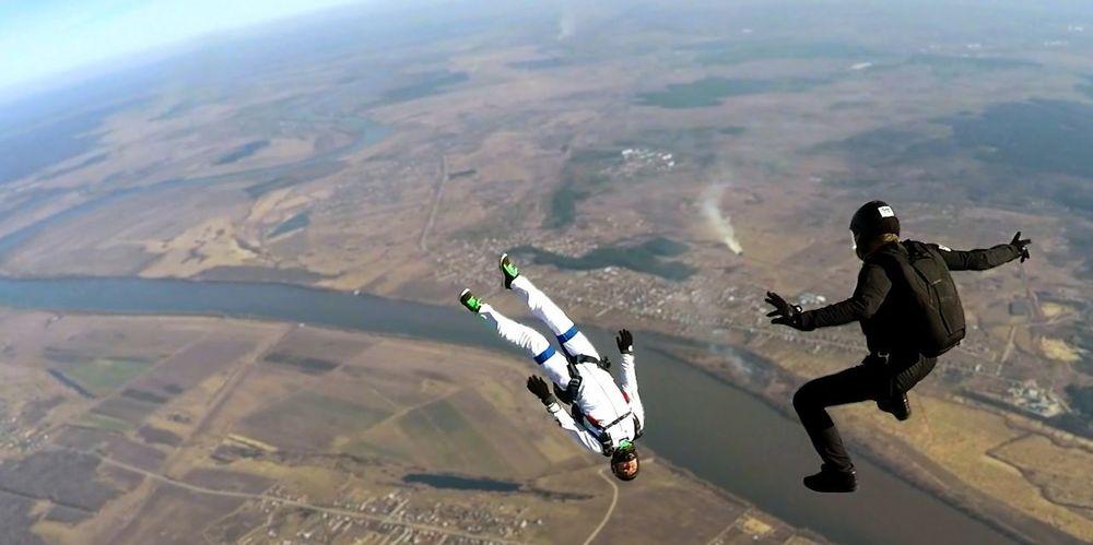 FlyorDie Beahero Clouds Extreme Sports Go Higher Sky Skydiver Skydiving