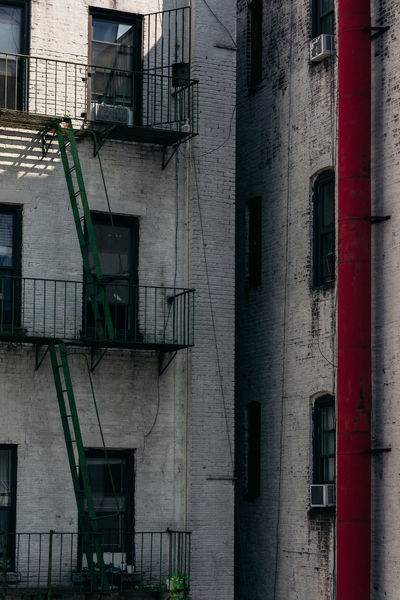 Fire Escape New Yokr New York City Travel Architecture Building Building Exterior Built Structure Day No People Outdoors Residential District Staircase Travel Destinations Urban Window