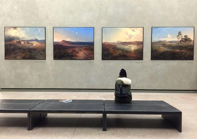 Admiring artworks at Neue Pinakothek museum in Munich Tc-ce2014 Traveling Art