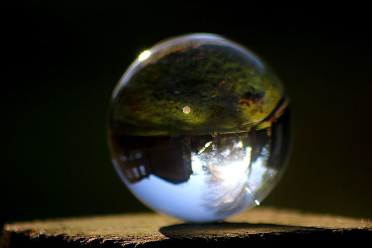 Nature Photography Nature Sphere Glass - Material Close-up Reflection Crystal Ball Transparent No People Still Life Nature Single Object Focus On Foreground Glass Selective Focus Ball Crystal