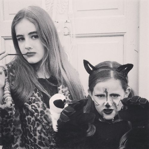 Happy Halloween 2015 Halloween girls Hello World Enjoying Life Check This Out Ireland🍀 Black And White Family Beauty B&W Portrait