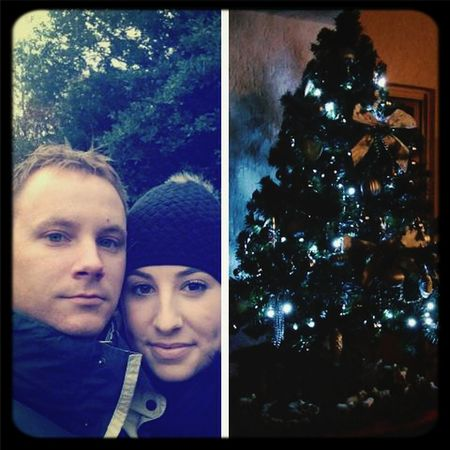 Walking around the wood all day long looking for a tree and we finally found the perfect one! :) Christmas, we are waiting for you :) Christmastime Christmas Tree With My Love Lovely Day