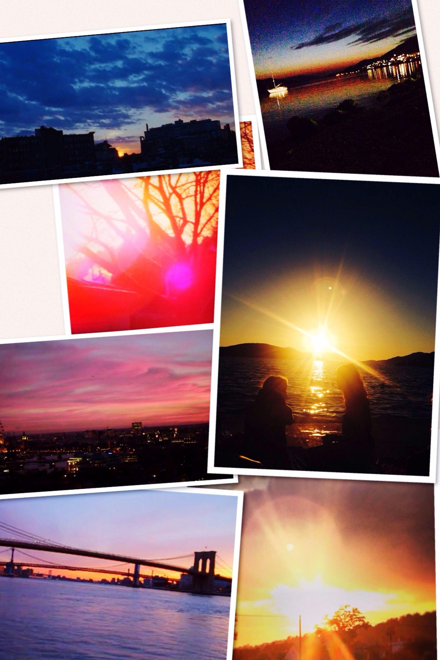 sun, sunset, architecture, built structure, sunlight, sky, building exterior, sunbeam, orange color, lens flare, reflection, cloud - sky, silhouette, cloud, city, no people, nature, water, outdoors, scenics