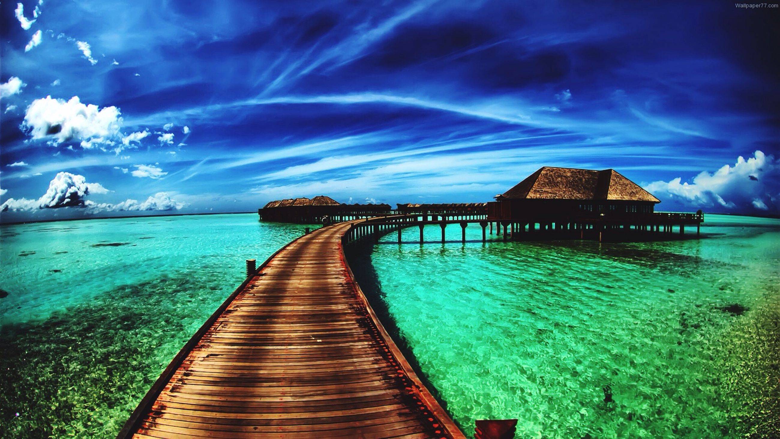 water, the way forward, blue, pier, sea, sky, tranquility, built structure, diminishing perspective, tranquil scene, long, railing, architecture, jetty, scenics, beauty in nature, boardwalk, nature, empty, idyllic
