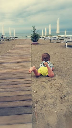 Children Only Childhood Beach Outdoors One Boy Only Child