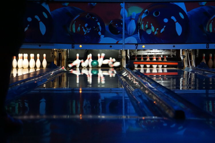 City Life Group Of People Illuminated Leisure Activity Lifestyles Medium Group Of People Modern Bowl Bowling Fun Family Family Time Lane Strike! Down All Night Nightlife Showcase July San Antonio