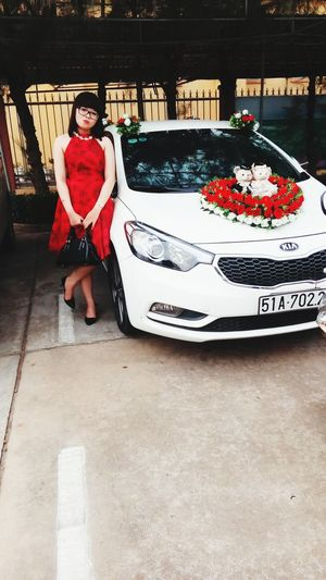 Kiacar Coupleteddy Redrose  Wedding Party Strong Woman Reddress Happiness ♡ Cheese! (.^.)