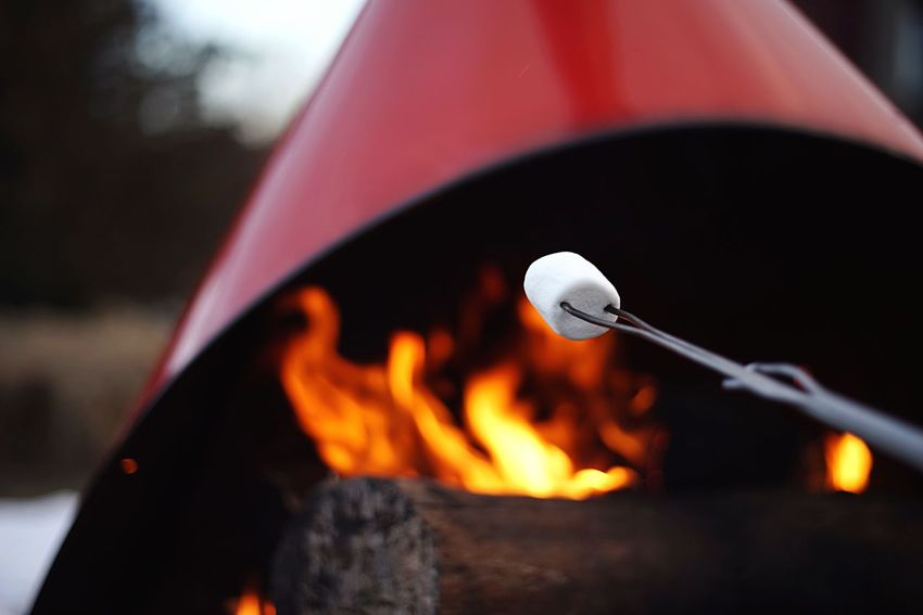 Marshmallows Marshmallow Smores Roasting Campfire Camping Fire