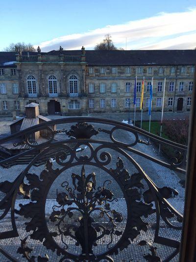Blick auf das Neue Schloss in Bayreuth Fichtelgebirge Winter Winter Mood Baroque