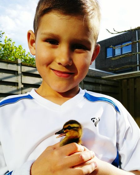 Catching little duckies in the backyard to set them free MyBoy Empel Freedom Duckies! Snapshots Of Life