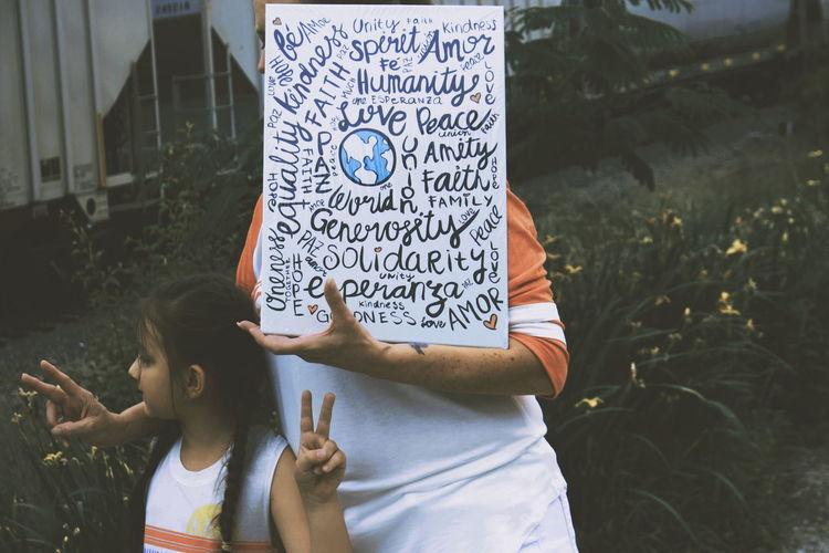 Women Child Standing City Street Art Written Mural Chalk - Art Equipment Single Parent Chalk Drawing