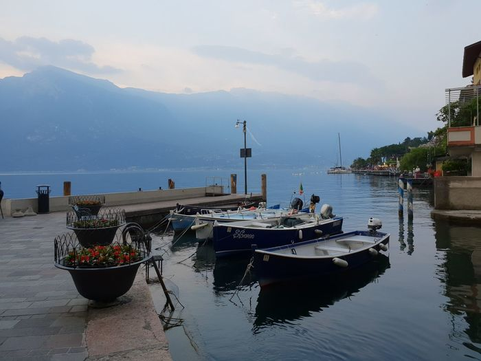 Limone sul Garda Gardasee Sky And Clouds Architecture Beauty In Nature Built Structure Cloud - Sky Day Fishing Boat Gardalake Harbor Italy Italy❤️ Lake Lake View Lakeside Mode Of Transportation Moored Nature Nautical Vessel No People Outdoors Port Reflection Sailboat Sea Sky Transportation Travel Water Waterfront