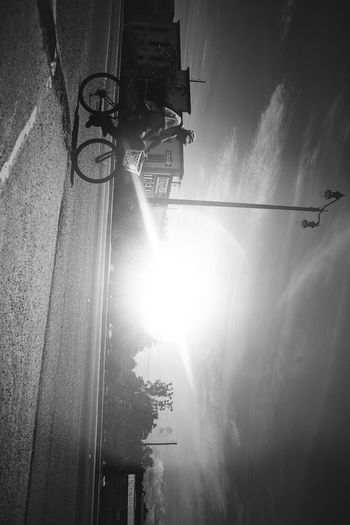 Perspective Sunlight Transportation Sunbeam Day Sun Outdoors Low Angle View No People Bicycle Cable Sky Nature Building Exterior Telephone Line Neighborhood Map The Street Photographer - 2017 EyeEm Awards EyeEmNewHere