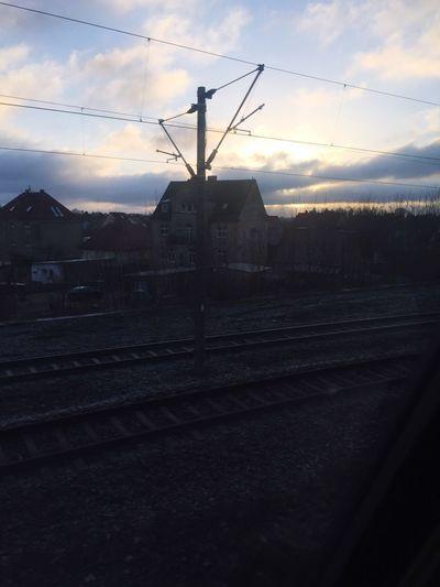 Railroad Track Rail Transportation Railroad Station Cloud - Sky