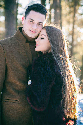 Beautiful People Beauty Couple - Relationship Love Outdoors People Romance Two People Warm Clothing Well-dressed Winter Young Adult Young Women