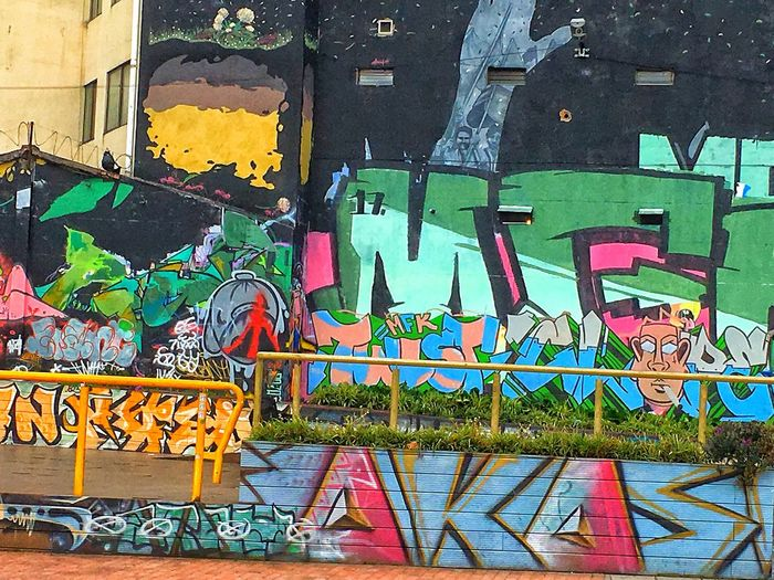 Graffiti Art And Craft Street Art Multi Colored Text Day Outdoors Built Structure No People Architecture