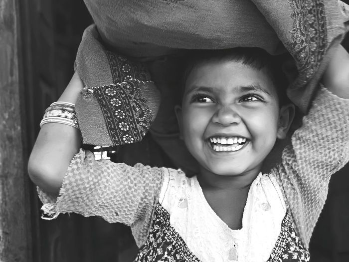 Eeyem Photography EE_Daily: Black And White Eeyemphotography Little Girl EyeEm Selects Village Village Life Villege People Village View Child Portrait Smiling Childhood Happiness Cheerful Girls Playing Fun Enjoyment